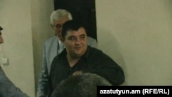Armenia -- Lieutenant-Colonel Vartan Samvelian goes on trial in Yerevan, 25Sep2012.