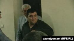 Վարդան Սամվելյանը դատարանի դահլիճում, 25-ը սեպտեմբերի, 2012
