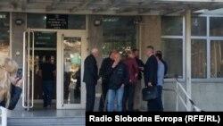 Архива: Адвокатите и обвинетите во предметот Сопот пред Основен Суд Скопје 1.