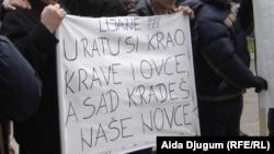 Sa protesta poljoprivrednika u januaru 2013.