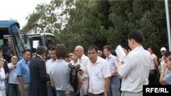 Участники акции протеста прибыли в Талдыкорган.
