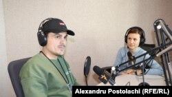Nicu Gușan și Eugenia Crețu în studioul Europei Libere, Chișinău, 6 aprilie 2021.