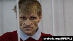 Syarhey Kavalenka appeared emaciated at a court hearing in February.
