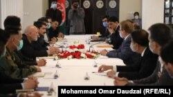 دیدار هیئت پاکستانی با محمد عمر داوودزی، نماینده رئیس جمهوری افغانستان برای پاکستان
