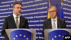 Прес конференција на претседателот Црвенковски и комесарот за проширување на ЕУ Оли Рен