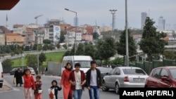 Уголок Стамбула, наиболее крупного города Турции, бывшей столицы Османской империи