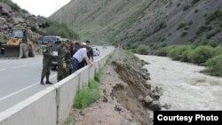 Последствия проливных дождей в Кыргызстане