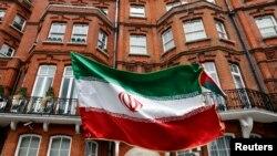 Londonun mərkəzində İran konsulluğunun binası.