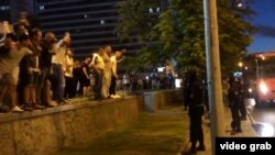В центре Минска вечером 9 августа