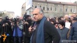 Րաֆֆի Հովհաննիսյանը հանրահավաք անցկացրեց Աշտարակում
