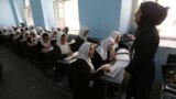 Girls attending a school in Herat in October 2017