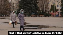 Славянск, Соборная площадь, 23 марта 2020 года