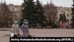 Славянск, карантин, Соборная площадь
