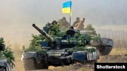 Украина сарбаздары. Көрнекі сурет.