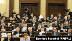 Қазақстан парламенті палаталарының бірлескен отырысы. Астана, 14 қаңтар 2011 жыл.