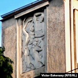 Detaliu pe o clădire Art Deco, str. Gral Constantin Cristescu, București
