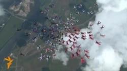 Qadın paraşütçular Rusiya rekordu vurdular