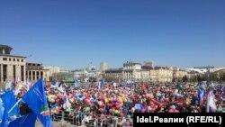 """Камал театры каршындагы """"Бердәм Русия"""" митингы"""