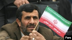 Ahmadinejad during the 30th anniversary of the Islamic Revolution