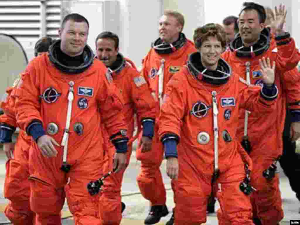 Former Air Force test pilot Eileen Collins became the first-ever female commander of a U.S. space shuttle mission in July 1999, on the third of her four shuttle missions.