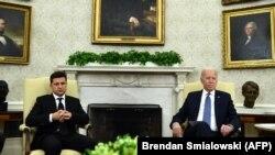 Украина президенти Владимир Зеленский жана АКШнын президенти Жо Байден. 1-сентябрь, 2021-жыл.