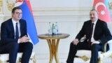 Azərbaycan və Serbiya prezidentləri (sağ) Ilham Əliyev və Aleksandar Vucic, 21 may 2018