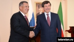 Рөстәм Миңнеханов һәм Әхмәт Давутоглу, Әнкара, 30 май 2012