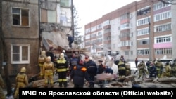 At least four people have been killed by a gas explosion that ripped through a residential building in the central Russian city of Yaroslavl.