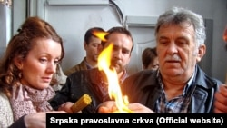 Blagodatni oganj u Nikšiću, foto: Srpska pravoslavna crkva