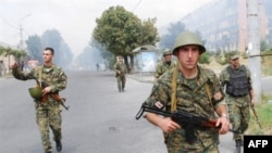 Georgian troops in South Ossetian at the start of the August, 2008, war