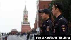 Кремль и Красная площадь, 13 сентября 2017 года