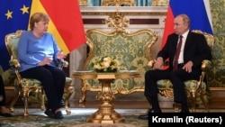 Канцлер Германии Ангела Меркель и президент России Владимир Путин. Москва, 20 августа 2021 года