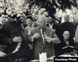 Фидель Кастро и Никита Хрущев в Грузии