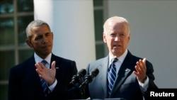 Барак Обама жана Жо Байден. Вашингтон, 21-октябрь, 2015-жыл.