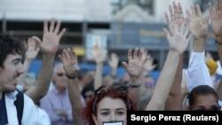 Митинг за диалог с властями Каталонии, Мадрид, 7 октября 2017