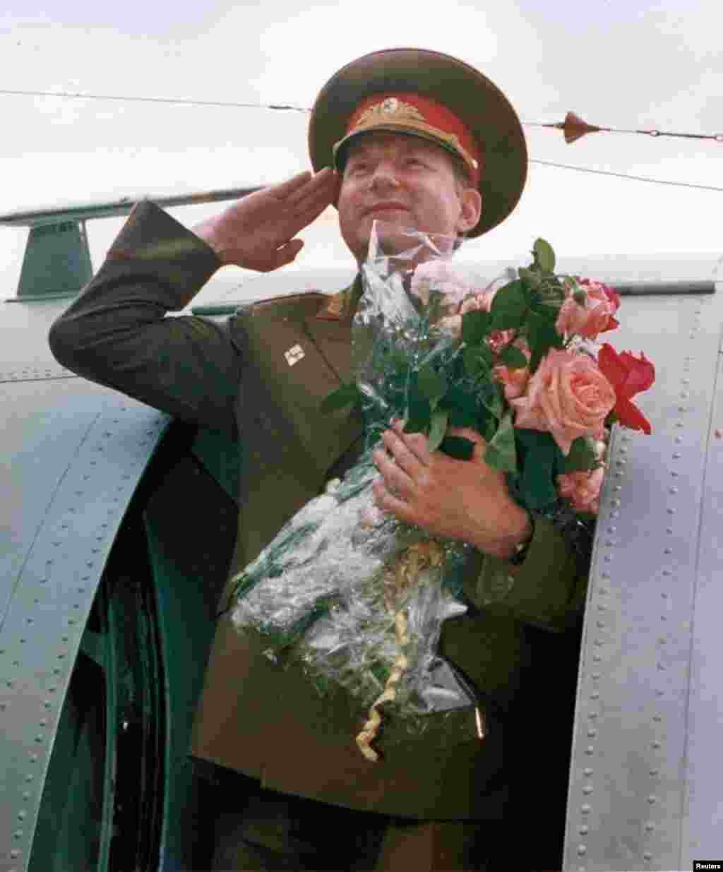 Генерал Эдуард Воробьев во время вывода советских войск из Чехословакии – 27 июня 1991 года