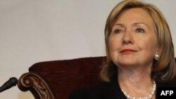 U.S. Secretary of State Hillary Clinton at the U.S.-Islamic World Forum in Doha
