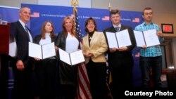 Svečano uručenje nagrada u Ambasadi SAD-a u Sarajevu, 7. decembar 2015.