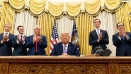 ترامپ در کنفرانس خبری روز پنجشنبه در کاخ سفید