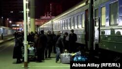 Bakı-Moskva qatarı.