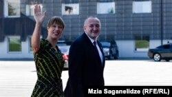 Георгий Маргвелашвили и прибывшая сегодня в Тбилиси президент Эстонии Керсти Кальюлайд, 12 сентября 2018 г.