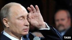 Премьер-министр России Владимир Путин. Москва, 7 февраля 2012 года.