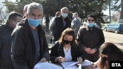 Опашка за ваксиниране в хасковското село Малево, 23 февруари 2021 г.
