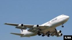 Iran -- An Iran Air plane, undated
