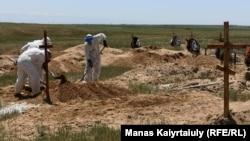 Алматы облусундагы коронавирустан көз жумгандар коюлган көрүстөн, 25-май, 2020