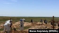 Кладбище для захоронения умерших от COVID-19 под Алматы. 25 мая 2020 года.