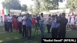 Сотрудники таджикских СМИ.
