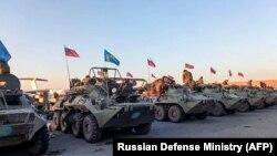 Ռուսաստանցի խաղաղապահները ռազմական օդանավակայանում, Երևան, 12-ը նոյեմբերի, 2020թ.