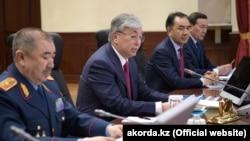 Қасым-Жомарт Тоқаев ішкі істер органдарының кеңейтілген отырысында. Нұр-Сұлтан, 17 сәуір 2019 жыл.
