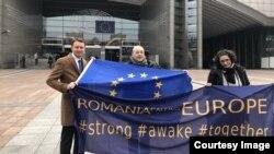 Eurodeputatul Sigfried Mureşan, Octavian Stângă şi Maria Elena Dumitrescu